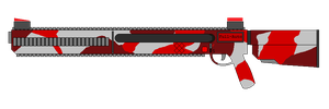 Lyre Firearms: Rainstorm Rifle (Bleedout Camo) by UltimaWeapon13
