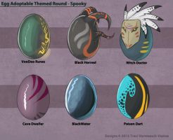 Egg Adoptable Themed Round - Spooky  (All Gone!) by Ulario