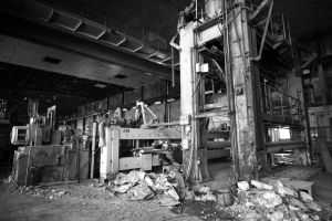 decaying factory line equipment by thespook