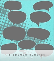 8 Speech Bubbles by mrz-art