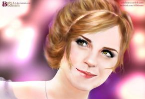 First Digital Art with Mouse - Anahita at Prom by Aty-S-Behsam