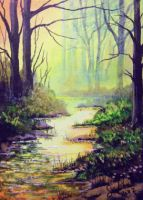 ACEO Magical Morning by annieoakley64