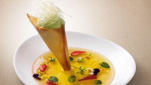 Fruit Soup with Sorbet by severianofilho