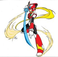 MMX zero line work colored by purpleangelwings