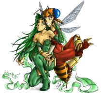 Rydia and her Lesbian WASP by Soap-Committee
