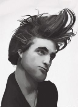 Robert Pattinson Caricature by yorkey-sa