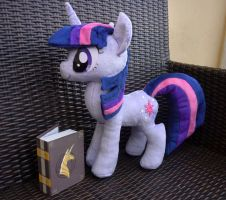 Twilight Sparkle plush with EOH book accessory by lazyperson202