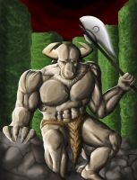 Minotaur and the Labyrinth by wyguy5