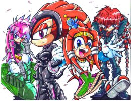 the echidna girls by trunks24
