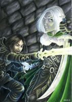 Drizzt vs Entreri to Nisi_chan by skorpi