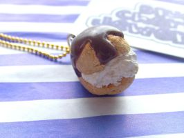 Cream Puff Profiterole Necklac by tyney123