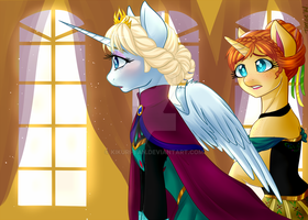 .My Frozen Pony: Queen Elsa of Arendelle. by Kikuri-Tan