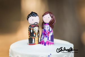 Our WoW Pally Cake Toppers by thatg33kgirl