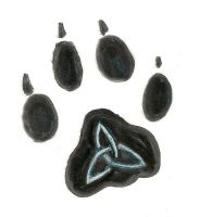 nother one-wolf paw by DragonofRampage
