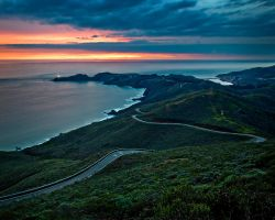 Point Bonita from Hawk Hill by themobius