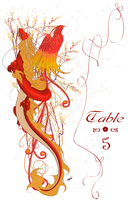 Dragon+Phoenix Table Numbers by yanagi-san