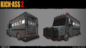 Swat Truck LOW POLY by mherrador