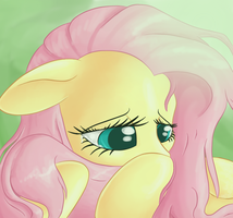 Sad Fluttershy by Tami-Kitten