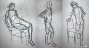Life Drawing Quick Gestures 3 by Chicken008