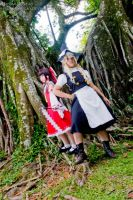 Reimu and Marisa by Hitomi-Cosplay