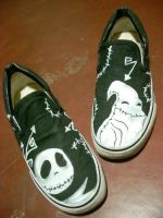 Custom shoes oogie boogie jack by markthat