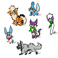 NYP Pokemon Adopts {1/6 OPEN} by WingedLeopard