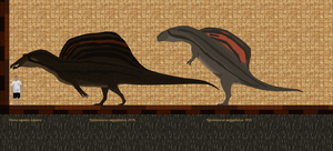Spinosaurus: then and now by Paleop