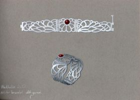 Silver Bracelet Drawing by GeshaR