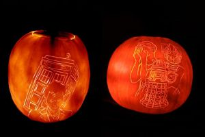 Doctor Who Pumpkins by comicalclare