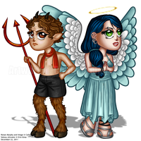 Heaven and Hell by callisto-chan