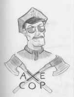 Daily Sketch Challenge - Axe Cop by crittercat