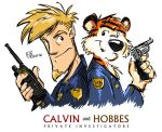 Calvin and Hobbes - P.I. by erikjdurwoodii