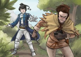Shin Megami Tensei 4 -- Flynn and Issachar by jameson9101322