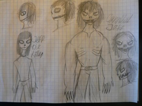 Jeff the killer and CJ - differences by kiki-mimi222222222