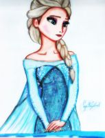 Elsa The Snow Queen (Disney Frozen) by GuillermoAntil