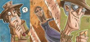 The Doctor, Arwen and Old Indy by OtisFrampton