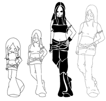 Lineart Style Chart by ladykayra