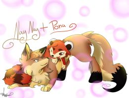Naynay And Pona (trade) by lazyfoxxx