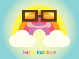 Nerdy Rainbow drawing by manriquez