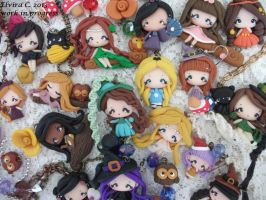 Polymer clay dolls! by elvira-creations