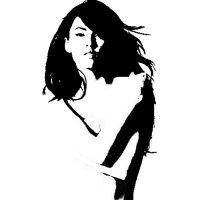 Megan Fox Nude Stencil by lobo348