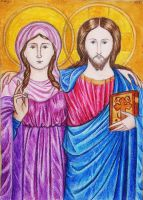 Jesus and Mary Magdalene by munchengirl