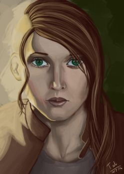 Loose Portrait by PersephoneWatching
