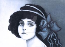 Painting of a Blue Eyed Victorian Child by booters