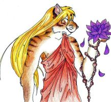 Tiger and Lotus by khrazah