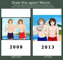 Beach Volleyball before and after by springie
