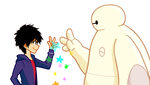 BAYMAX and HIRO by tmrr