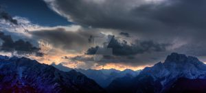 Sunset over the Dolomites by DiplomacyShadow