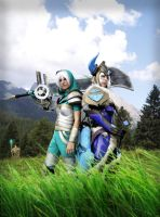 Riven and Sejuani by FairyScarlet