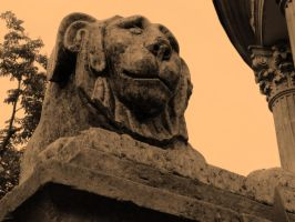 Stone lion by AstraphUriel